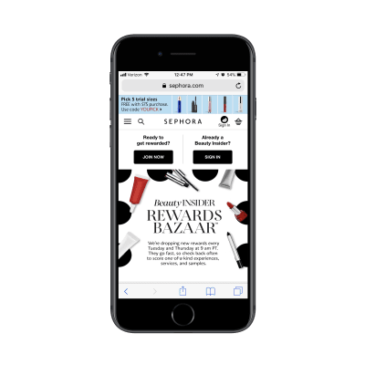 Sephora Rewards Bazaar loyalty program