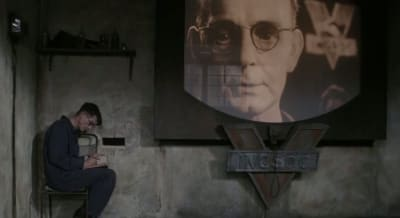 Screenshot from the film adaptation of George Orwell's '1984'.
