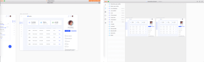 User profile artboard in Sketch and once imported in Framer X.