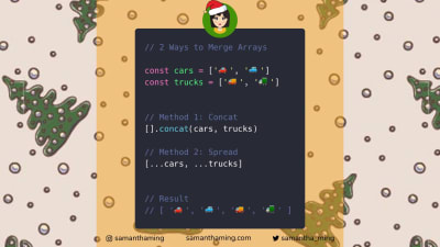 Code tidbit explaining how to merge arrays