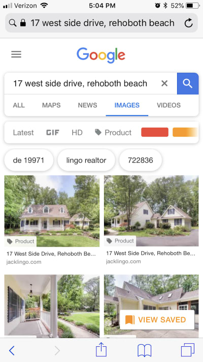 Jack Lingo takes the top spots in local image search.