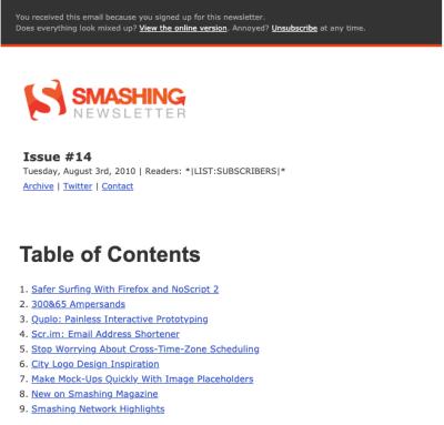 Smashing Newsletter Issue 14