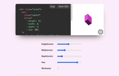 3D CSS Cuboid Generator