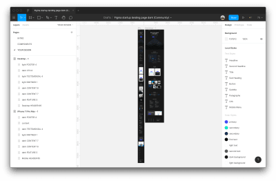 Interface of Figma