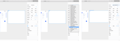 Select a Frame, Device in the Properties panel and choose Apple MacBook Pro.