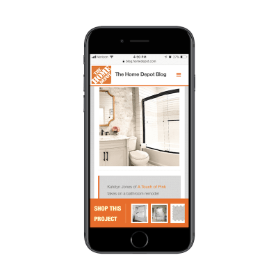 Home Depot blog CTAs