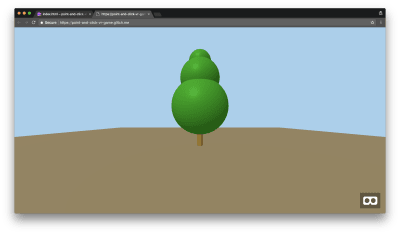 When navigating back to your preview, you will now be able to see a green tree placed in your background.