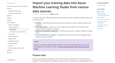 Microsoft Azure data import guide