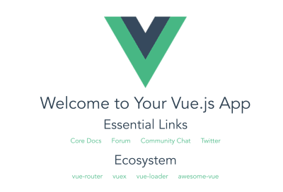A screenshot of the Vue.js website