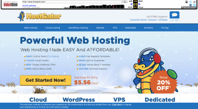 HostGator website 2017