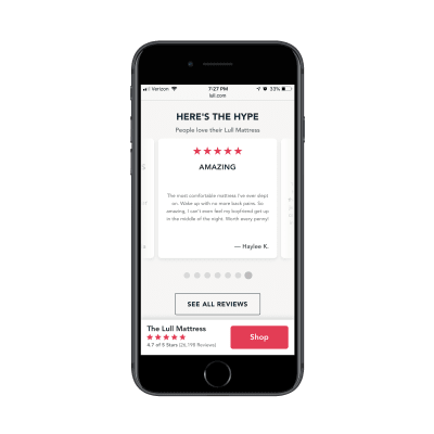 Lull Google customer reviews on mobile