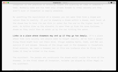 Manuscript grid in iA Writer
