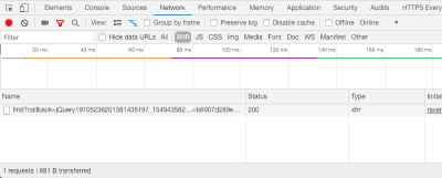 Requests monitor in Chrome Developer Tools