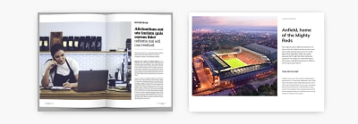 Layout for an article abou the Dutch soccer player Virgil Van Dijk
