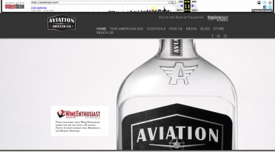 Aviation Gin website 2016