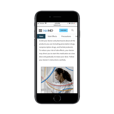 WebMD breadcrumbs navigation for anchor tags