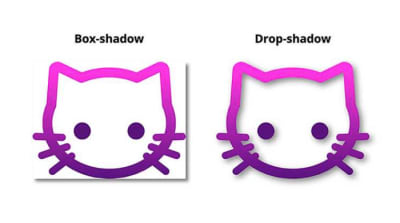 Box-shadow vs. drop-shadow
