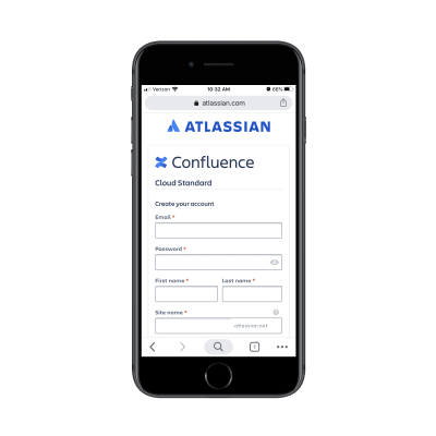 Atlassian free trial form