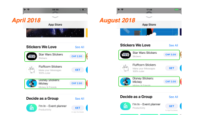 iMessage Store sticker app curation