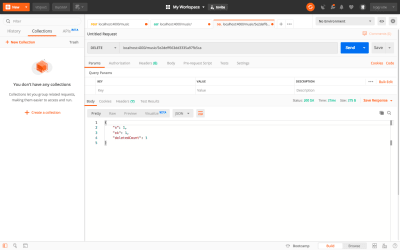 Testing Delete API using Postman
