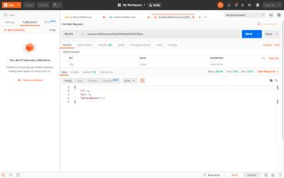 Testing Delete API using Postman
