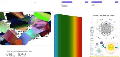 Desktop homepage of self-described brutalist website JI SOO EOM