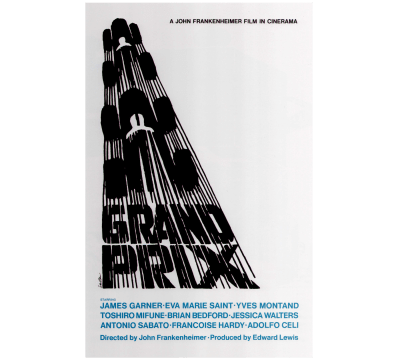 Saul Bass-designed poster for the feature film 'Grand Prix'