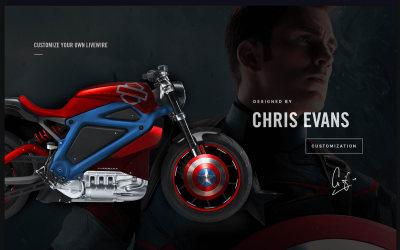 Harley Davidson Livewire bike configurator project