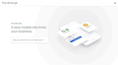 Test My Site speed test