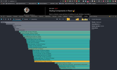 React Developer Tools Profiler flamegraph
