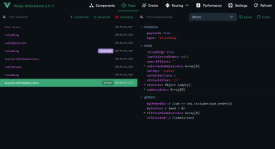 Debugging Vuex with Vue Devtools