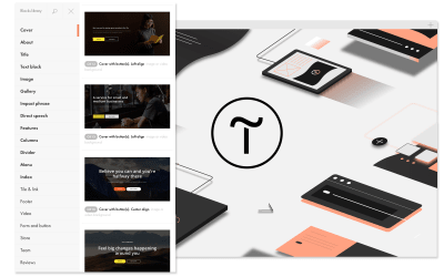 preview of Tilda website builder