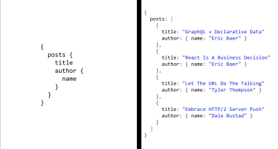 An image showing a request query and response JSON of an dream API