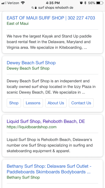Liquid Surf Shop's metadata is well-written and to the point.Liquid Surf Shop's metadata is well-written and to the point.