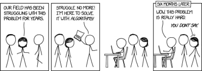 xkcd webcomic about algorithms