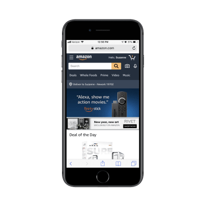 Amazon home page personalization