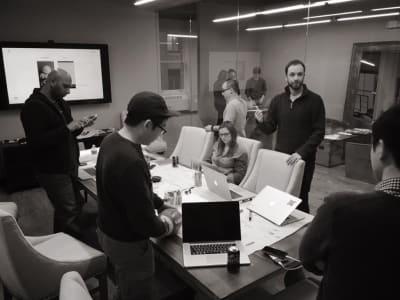 Product team meeting at Fantasy Interactive