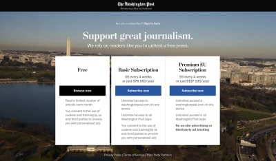 the-washington-post Premium EU Subscription