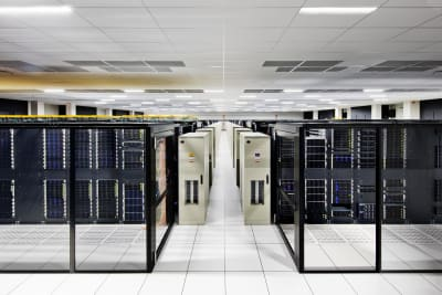 An image of a cloud data center taken at IBM