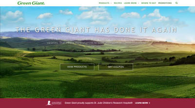 Green Giant website 2020
