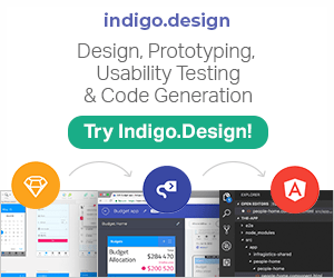 Design, Prototyping, Usability Testing, and Code Generation. Try Indigo Design!
