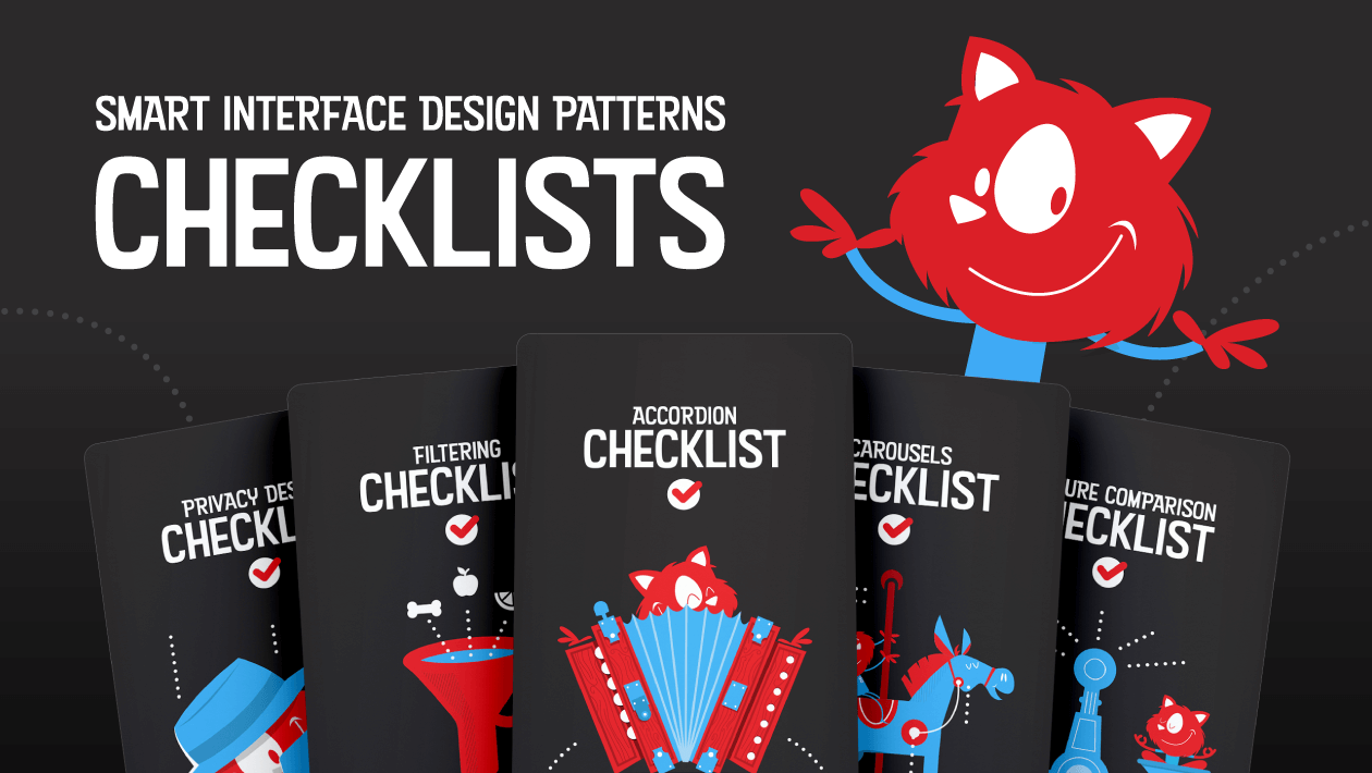 Smart Interface Design Patterns In Your Pocket Checklist Cards Pdf Smashing Magazine
