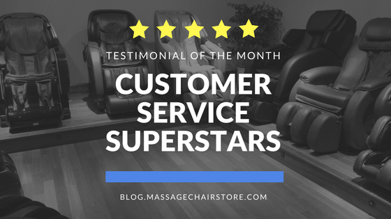 Testimonial of the Month: Customer Service Superstars
