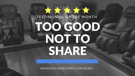 Testimonial of the Month: Too Good Not to Share!