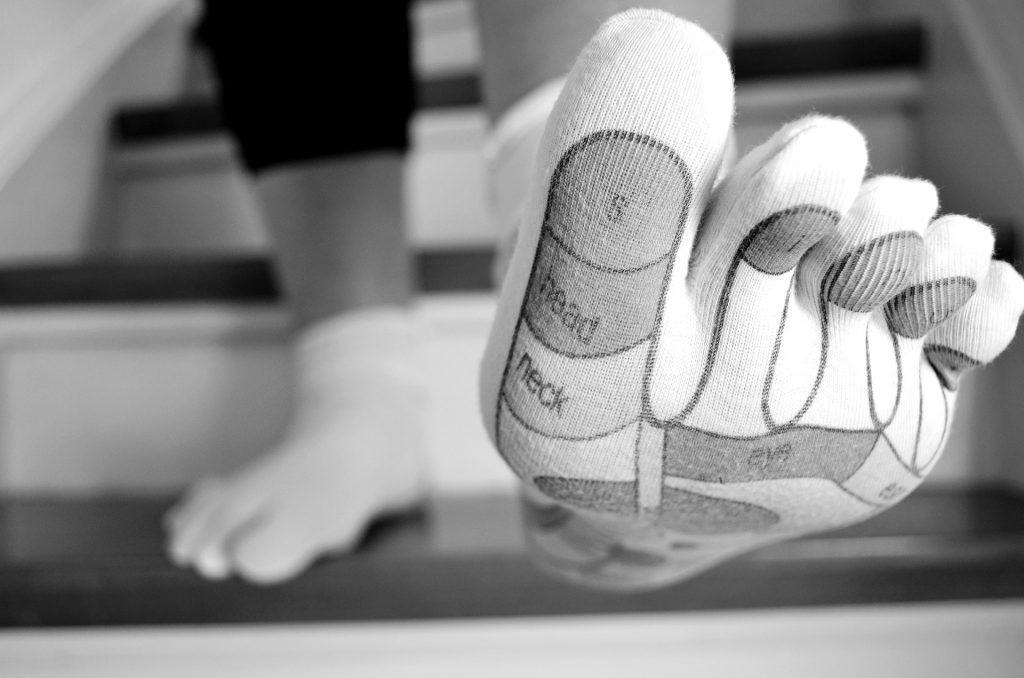foot reflexology, foot reflexology points