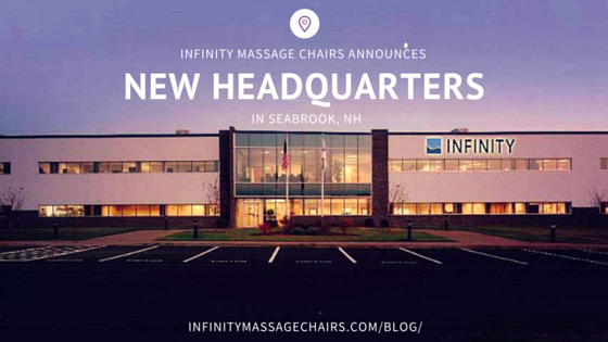 Infinity Massage Chairs Announces New Headquarters in Seabrook, NH