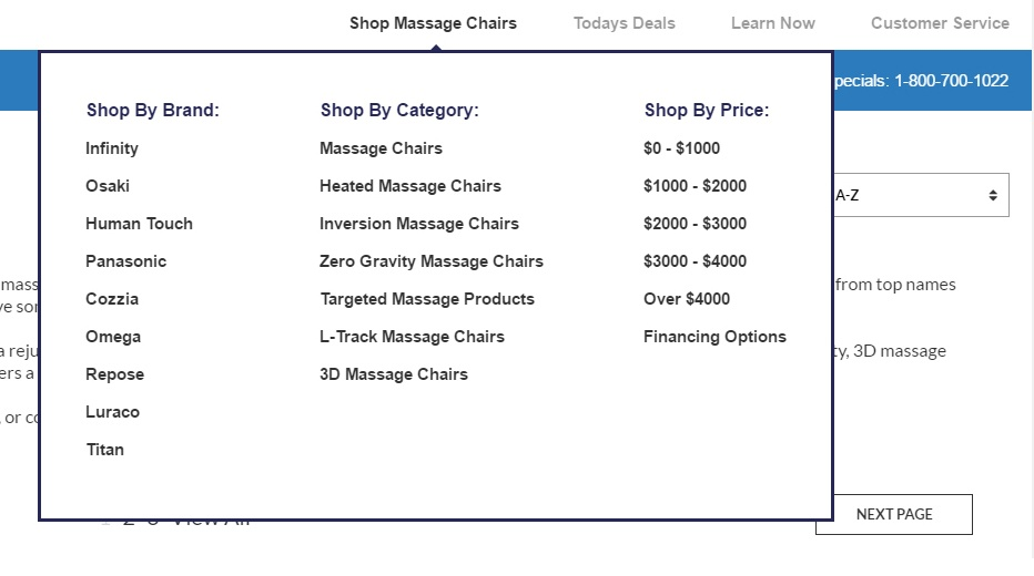 Massage Chair Shopping