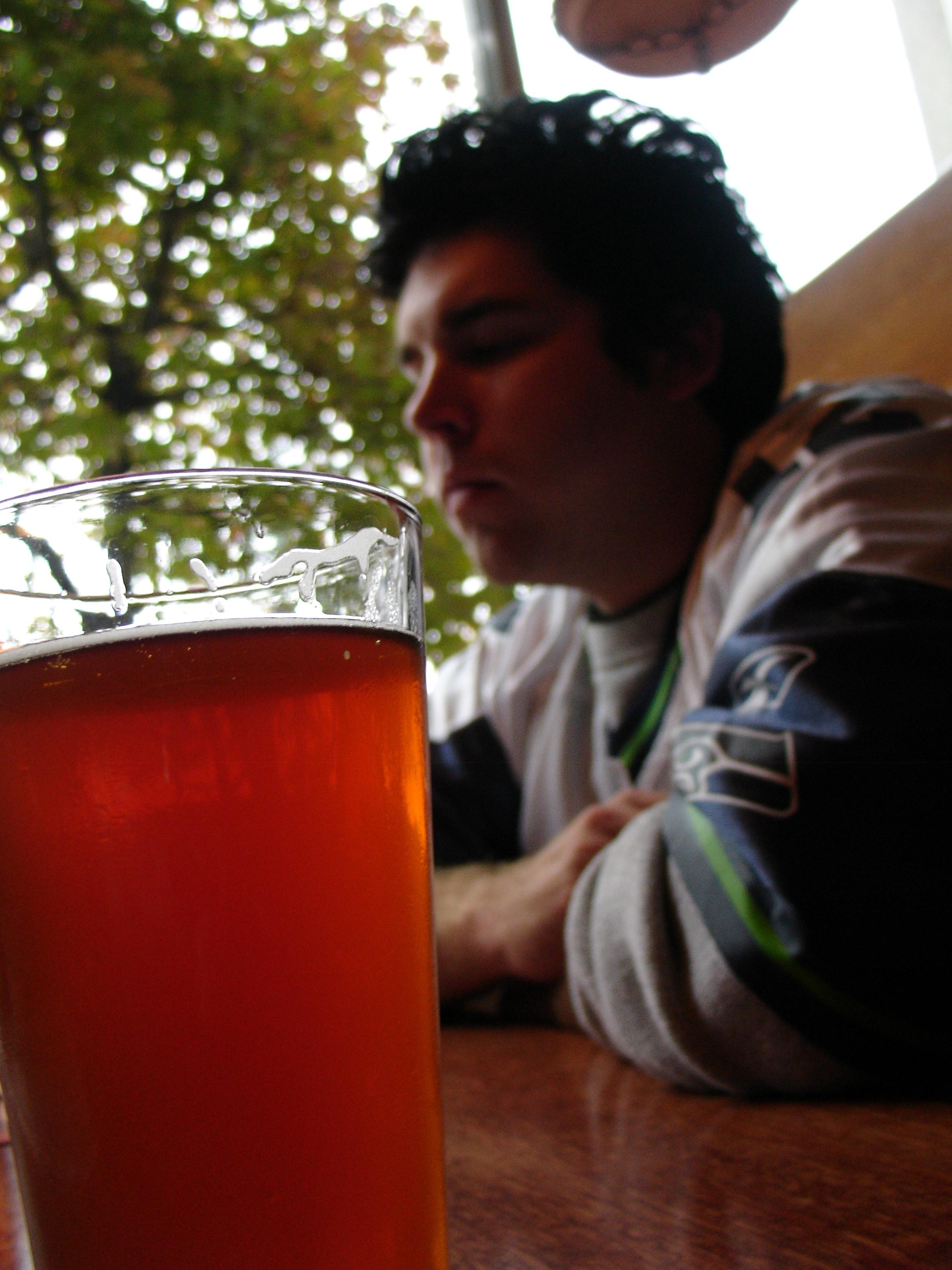 sports fan drinking