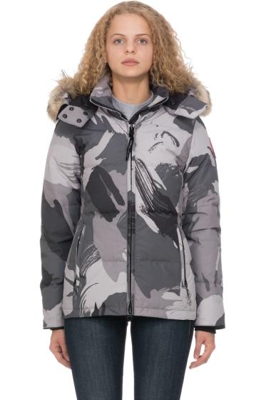 Canada goose chelsea parka grey brush camo
