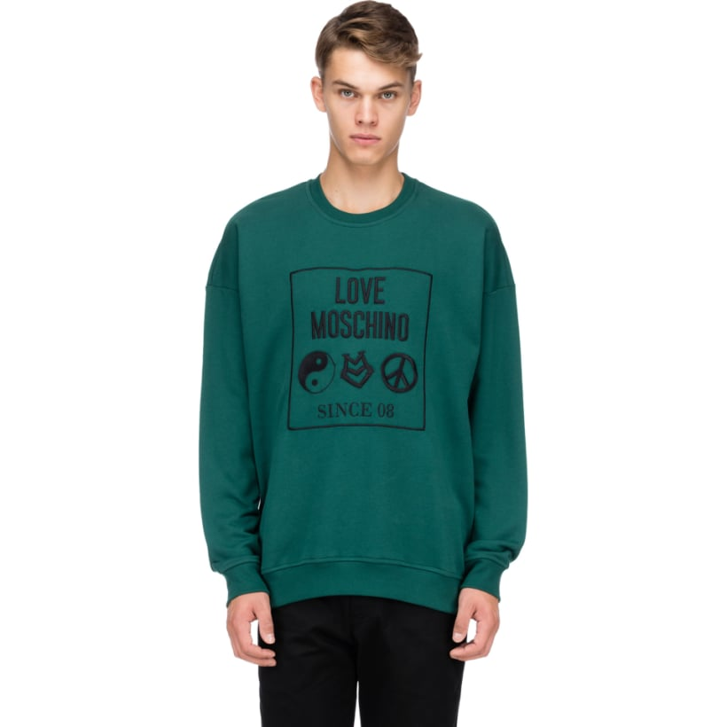 3784c439b6c Love Moschino: Yin-Yang Pullover - Green | influenceu